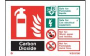 W6372ID - CARBON DIOXIDE EXTINGUISHER IDENTIFICATION SIGN.